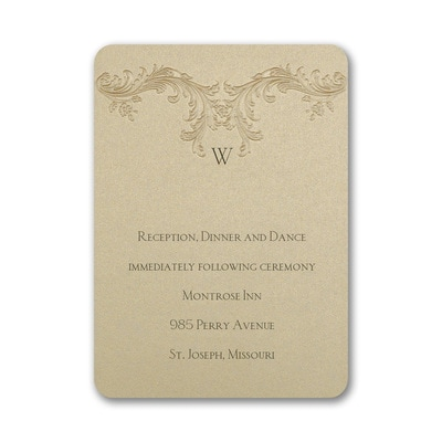 Baroque Elements - Reception Card