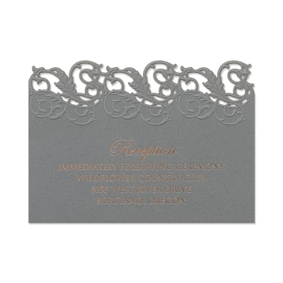 Perfectly Pewter - Reception Card