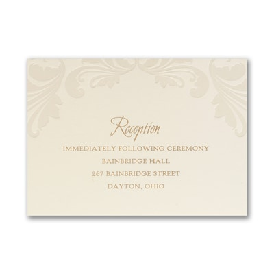 Luxurious Flourish - Reception Card