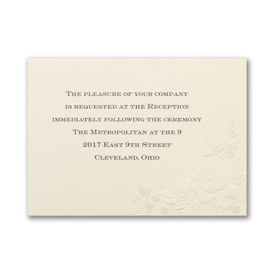 Floral Inspiration - Reception Card
