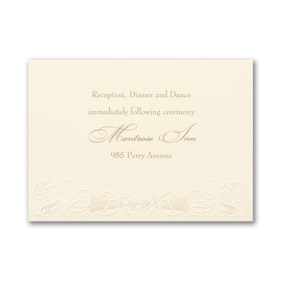 Vintage Classic - Reception Card