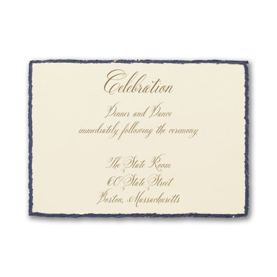 Navy Deckle - Reception Card