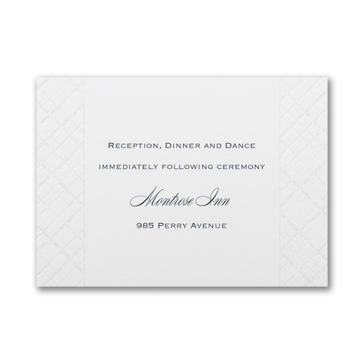 Lavish Lattice - Reception Card