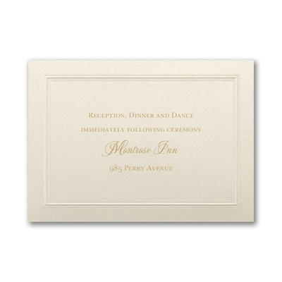 Shimmering Border - Reception Card