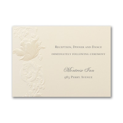 Sophisticated Bloom - Reception Card