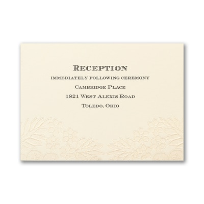 Sparkly Lace - Reception Card