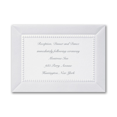 Adorned in Pearl - White - Reception Card