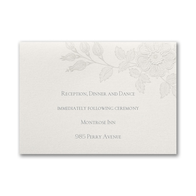 Flowers on Shimmer - Reception Card