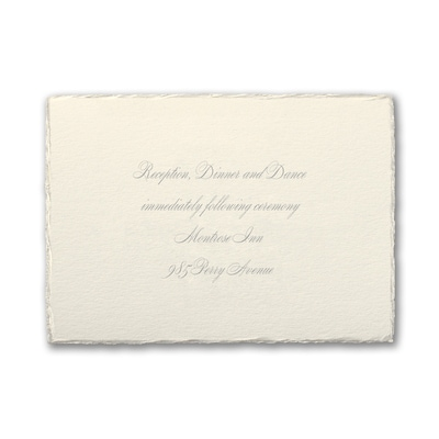 Wrapped in Magic - Reception Card
