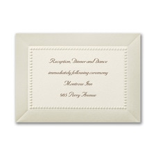 Pearl Elegance - Reception Card