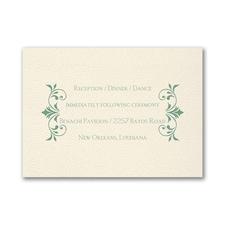 Wreath of Filigree - Reception Card