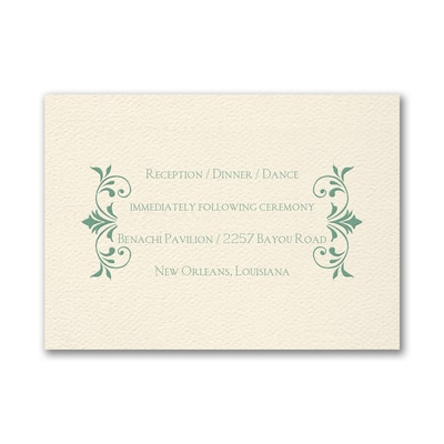 Wreath of Filigree - Reception Card