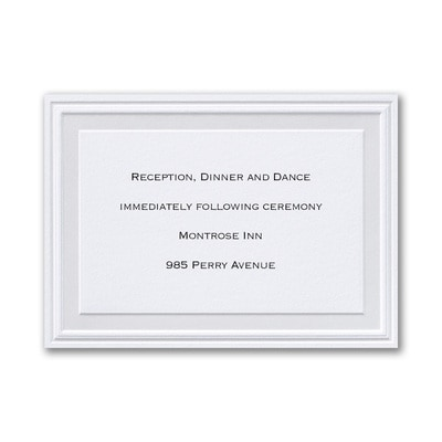 Pearl Poetry - White - Reception Card