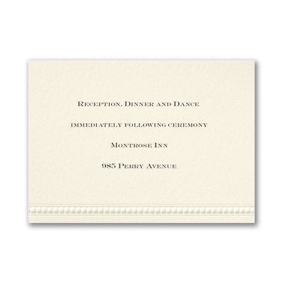 Fine Romance - Reception Card