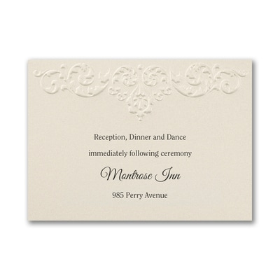 Ecru Whisper - Reception Card