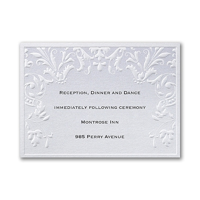 Tender Trellis - Reception Card