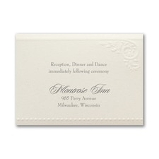 Divine Day - Reception Card - Ecru Shimmer