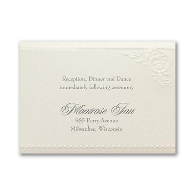 Divine Day - Reception Card - Ecru Shimmer