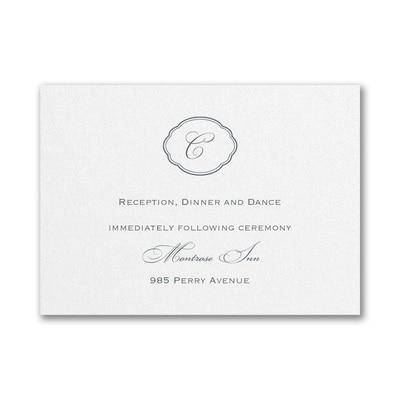 Appealing Elegance - Reception Card