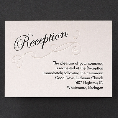 Exquisite Poetry - Reception Card