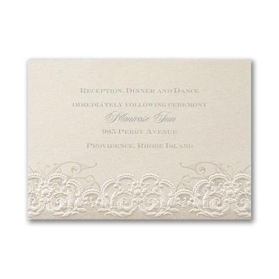 Rococo Romance - Reception Card