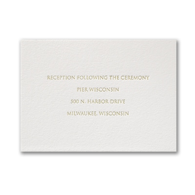 Pure Luxe - Reception Card