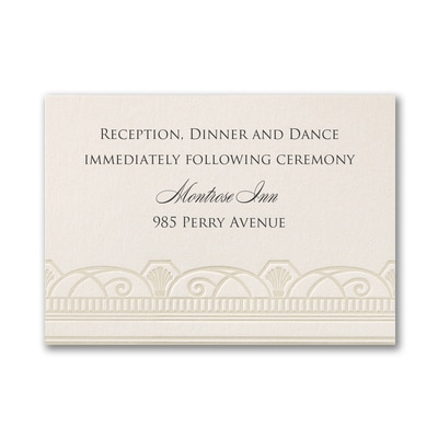 Decadent Deco - Reception Card