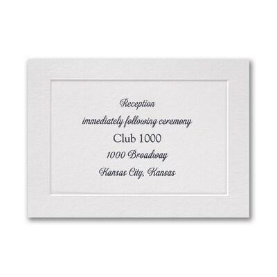 Classic Luxury - Reception Card