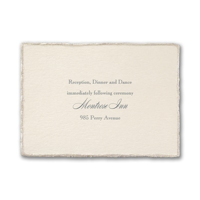 Touch of Glitz - Reception Card