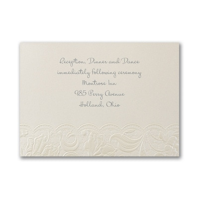 Couture Lace - Reception Card