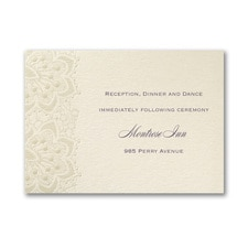 Lace Shimmers - Reception Card