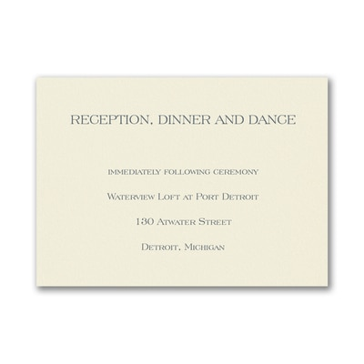 Reception Card - Ecru