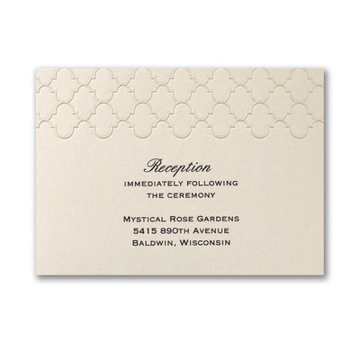 Moroccan Elegance - Reception Card