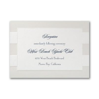 Sumptuous Stripes - Reception Card