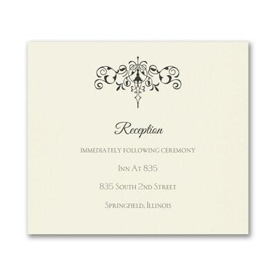 Monogram Flourish - Reception Card - Ecru