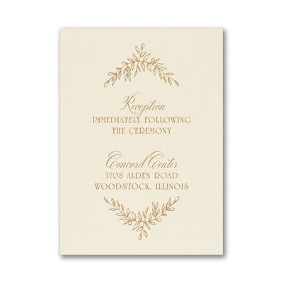 Precious Vines - Reception Card