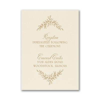 Precious Vines - Reception Card