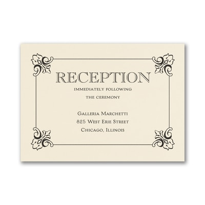 Monogram Romance - Reception Card