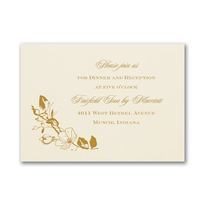 Boho Charm - Reception Card