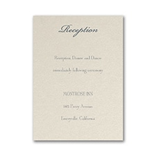 Layers of Beauty - Reception Card