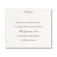 White Reception and Map Card
