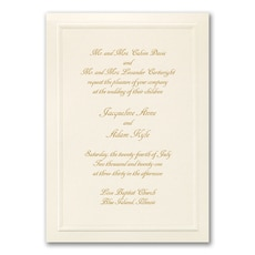 Just Right - affordable and cheap invitation