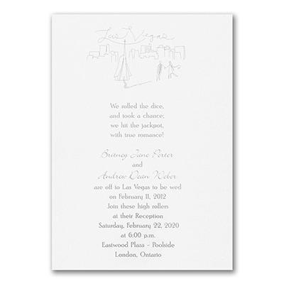 A Vegas White Wedding - Invitation