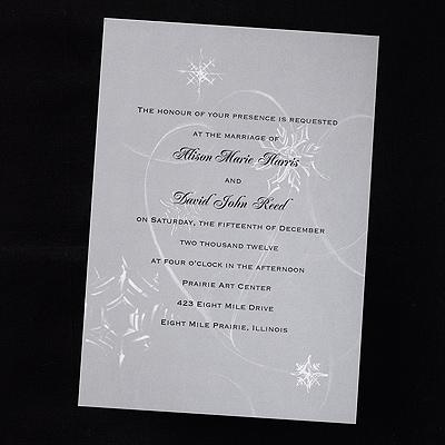 silver n snowflakes invitation carlson craft wedding