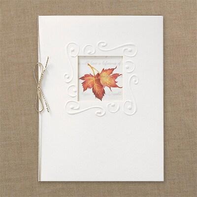Embossed Maple Leaf - Invitation
