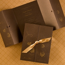 Falling Leaves Gate-Fold Invitation