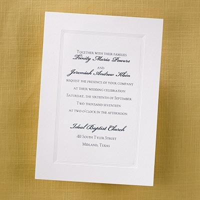 Borderedly Bright White - Invitation