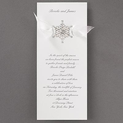 Shimmering Snowflake - Invitation