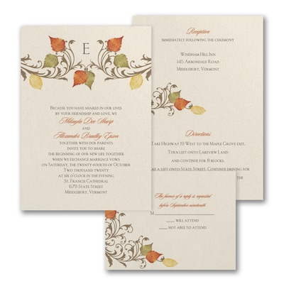 Fall in Love - ValStyle Invitation - Ecru