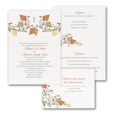 Fall in Love - ValStyle Invitation - White